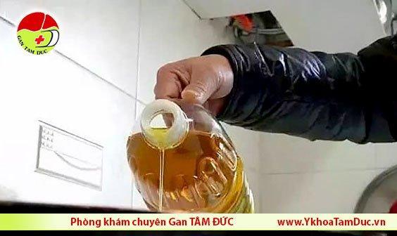 dầu ăn bẩn dầu ăn không rõ nguồn gốc ung thư gan