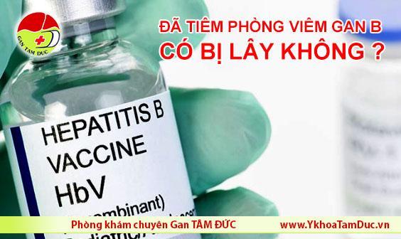 Tiêm phòng viêm gan B rồi có bị lây không viêm gan siêu vi b