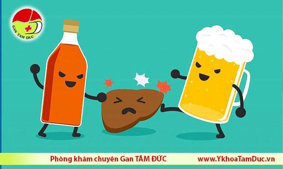 rượu bia ngày tết và bệnh gan liver alcohol